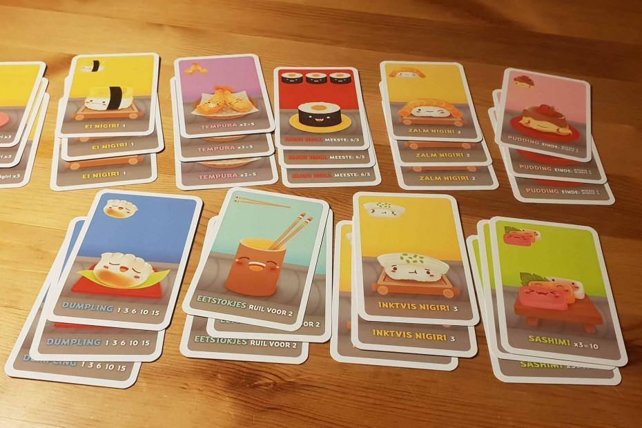 Sushi go kaarten