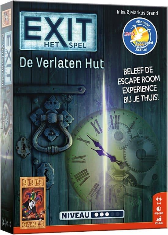 EXIT De Verlaten Hut bordspel doos voorkant