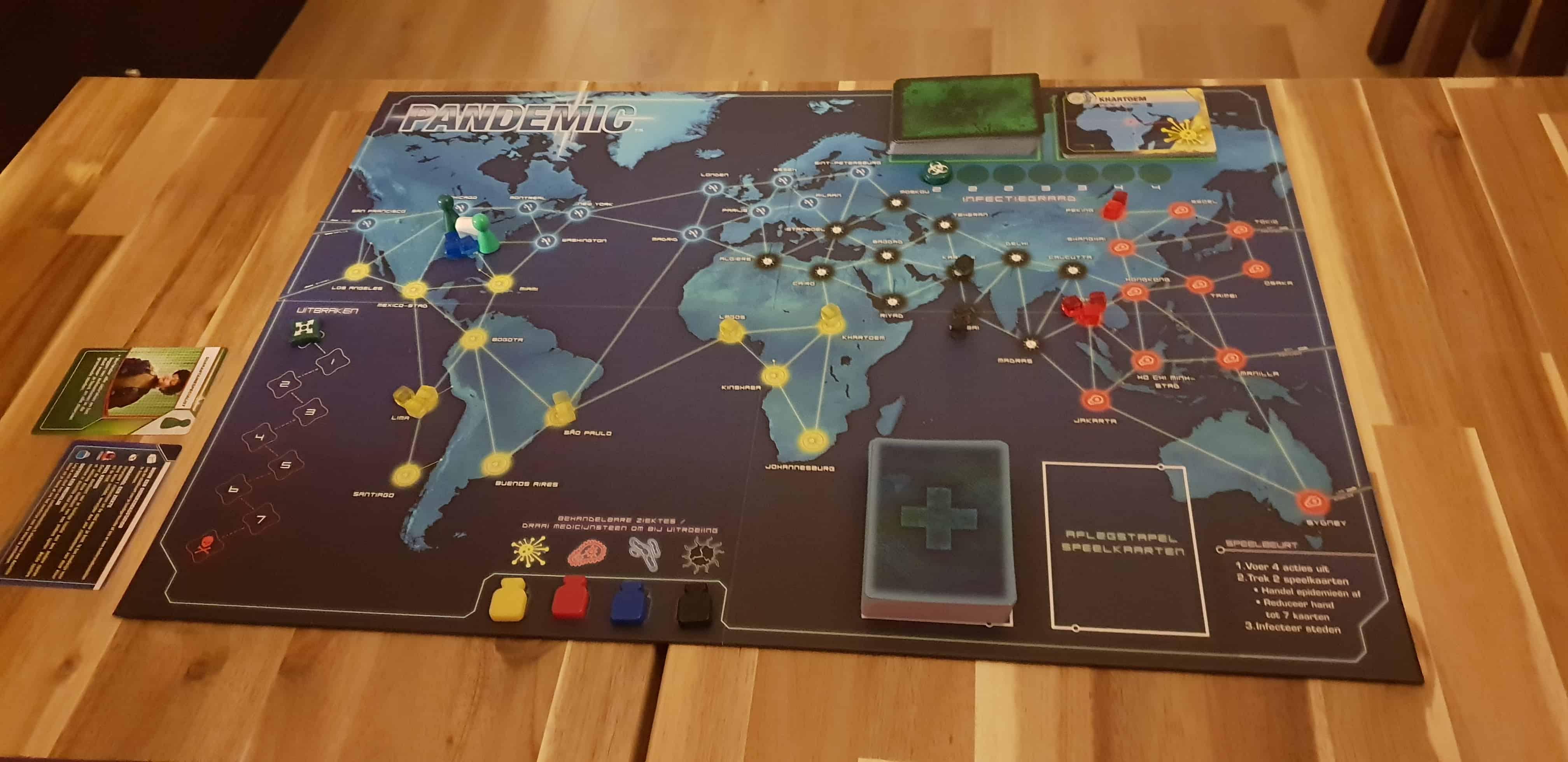 Pandemic begin opstelling