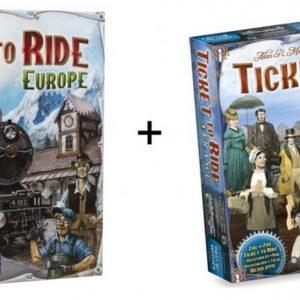 Spel - Ticket to ride Europe / Europa met uItbreiding Map Collection - France / Old West - Combi Deal