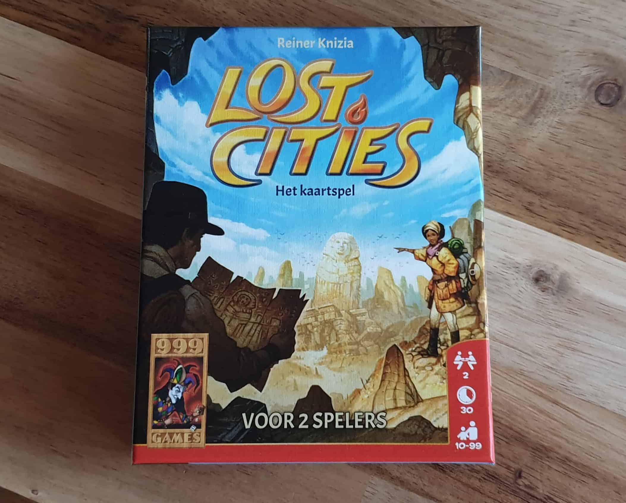 Lost cities het kaartspel voorkant doos