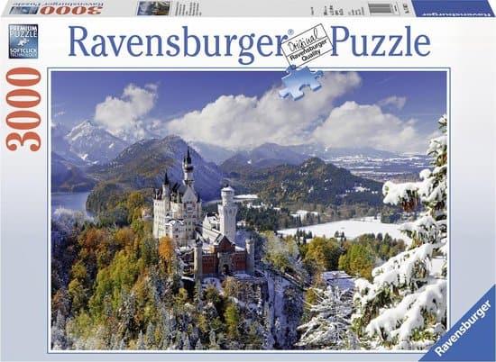 Ravensburger puzzel Slot Neuschwanstein in winter - Legpuzzel - 3000 stukjes