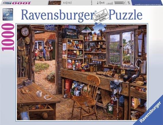 ravensburger puzzel opa's schuurtje